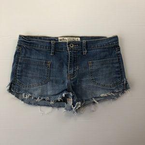 Hollister Size 5 30W Denim Stretch Blue Shorts